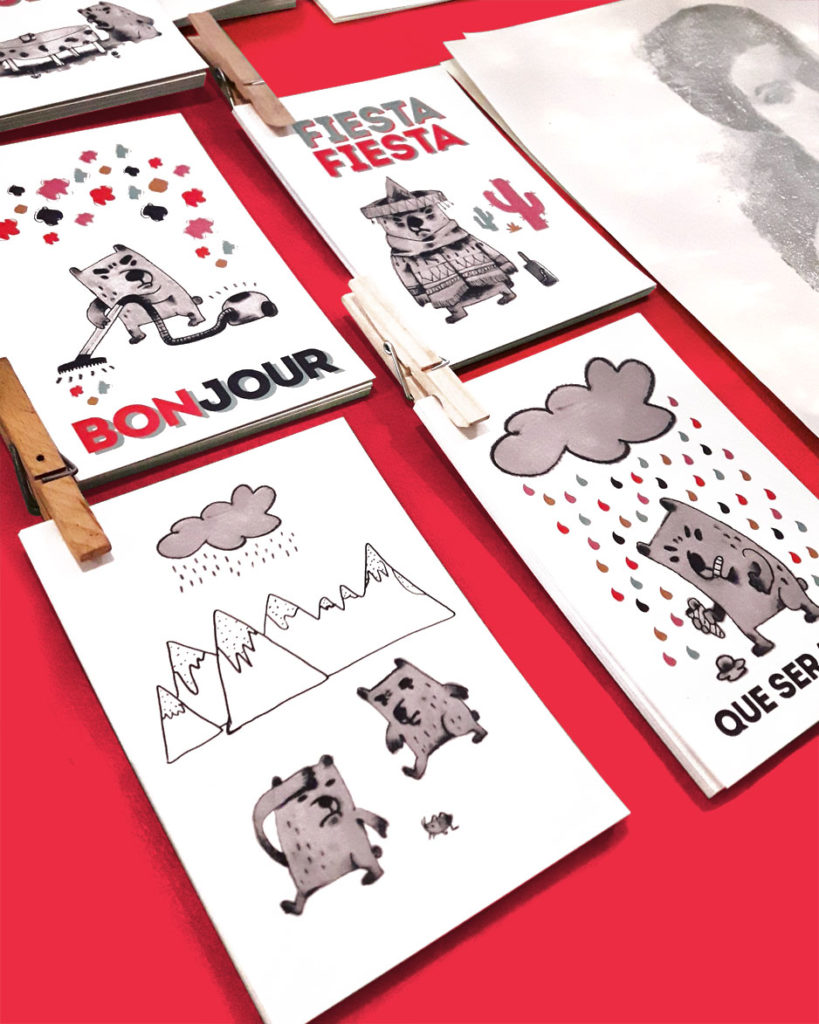 Club Studio: ansichtkaarten intense beren